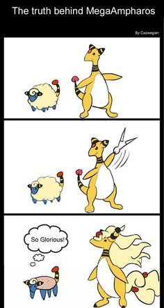 The Truth About Mega Ampharos... hilarious