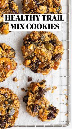 Healthy Cookie Recipes, Healthy Cookies, Healthy Sweets, Healthy Baking, Whole Food Recipes, Healthy Snacks, Cooking Recipes, Breakfast Cookie Recipe, Breakfast Recipes