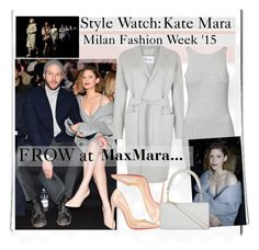 """Style Watch:Kate Mara"" by nfabjoy ❤ liked on Polyvore featuring MaxMara, Christian Louboutin, Rut&Circle, grey, fashionWeek, milan and mfw"