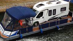 Ein kundeneigenes Hobby- Wohnmobil auf der Müritz und der Mecklenburger Seenplatte als Hausboot unterwegs. www.bootscharter-mueritz.eu