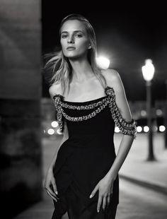 La Nuit De La Couture: Daria Strokous by Nathaniel Goldberg for Numéro #166 September 2015 - CHANEL Fall 2015 Haute Couture