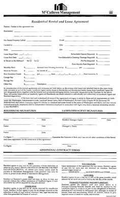 general office use forms - McCathren Property Management - Spokane, WA - apartment lease agreement