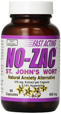 Only Natural St. John's Wort (no-zac) 450mg, 60-Count -- Check out this great product.