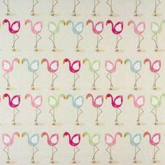 Geplastificeerd Katoen PVC Flamingo