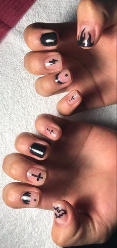 Dope Nails, Swag Nails, Mens Nails, Vintage Nails, Short Gel Nails, Semi Permanente, Manicure Y Pedicure, Cute Nail Designs, Creative Nails