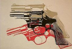 Andy Warhol, Gun, 1982, Synthetic polymer and silkscreen inks on canvas, Private collection