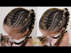 Trenzas Con Hilo/ Trenzas Tendencia / Peinado Juvenil /Peinados Rakel 27 - YouTube Rainbow Braids, Girl Hair Dos, Girl Hairstyles, Youtube, Hair Styles, Fashion, Hair Lengthening, Carnival, Cornrow Designs