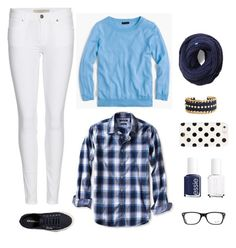 """""""Blue"""" by sk8gr8 on Polyvore featuring Banana Republic, Burberry, Abercrombie & Fitch, Keds, Kate Spade, Essie and Ray-Ban"""