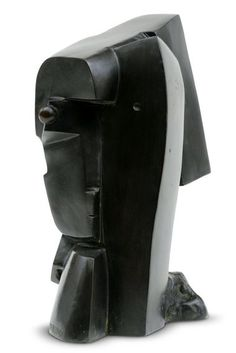 GUTFREUND OTTO (1889-1927) Cubist composition (Head of a Woman)   1920, bronz,   24 x 13 x 17 cm