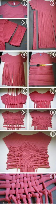 Shirt weaving.  Looks SOO cute.