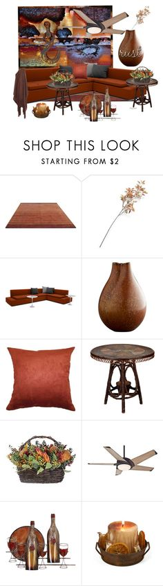 """""""Beautiful Rust for the Autumn Home"""" by ragnh-mjos ❤ liked on Polyvore featuring interior, interiors, interior design, home, home decor, interior decorating, Crate and Barrel, The Pillow Collection, Casablanca and C.R.A.F.T."""