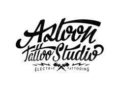 Logo / Logotype for Aztoon Tattoo Studio on Behance
