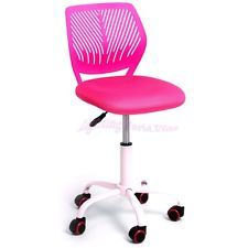 Bon Office Chair Mesh Rolling Executive Swivel Study Computer Chair Kids Room  Pink