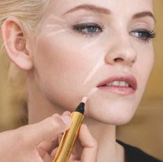 Yves Saint Laurent makeup artist, Fred Letailleur, showed me some brilliant ways of using the iconic Touche Eclat highlighter pen to highlight and brighten.