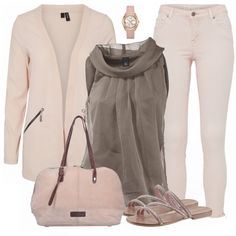 Toller Look aus rosa Cardigan, rosa Jeans und rosa Sandalen... #fashion #fashionista #mode #damenmode #frauenmode #damenoutfit #frauenoutfit #outfit #inspiration #outfitinspiration #kleidung #klamotten #frühling #sommer #trend2018 #trend