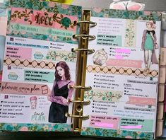 Girls x Floral Weekly Spread for My Kikki.k Personal Rings March 3rd, Kikki K, Weekly Spread, Ring Binder, Washi, Rings, Floral, Holiday, Instagram