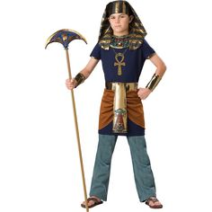 This Egyptian #Pharaoh #costume is the perfect costume for older #boys.