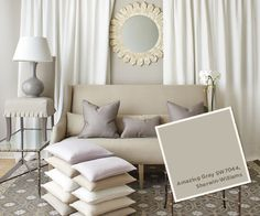 From our Summer 2013 Catalog: Sherwin Williams #SW7044, Amazing Gray.
