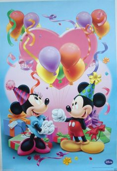 Minni y Mikie Mickey Mouse Art, Mickey Mouse Wallpaper, Mickey Mouse And Friends, Mickey Minnie Mouse, Best Birthday Quotes, Happy Birthday Pictures, Happy Birthday Greetings, Disney Happy Birthday Images, Disney Birthday Quotes