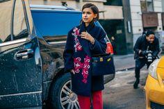 Awesome coat, Mira! #NYFW #StreetStyle