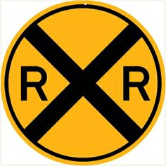 Railroad Xing Sign 18x18 Round -