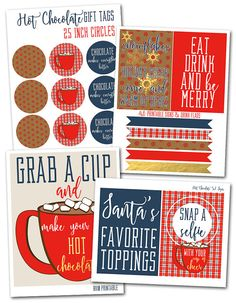 Holiday Hot Chocolate Printables perfect for your holiday party, Christmas brunch of holiday play date Christmas Cocktail Party, Christmas Cocktails, Holiday Drinks, Holiday Parties, Holiday Fun, Christmas Brunch, Chocolate Cone, Christmas Party Invitations, Party In A Box