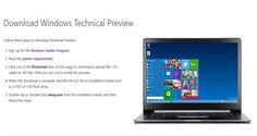 Windows 10 Technical Preview Download - http://windowsuser.org/windows-10-technical-preview-download/