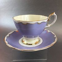 Royal Albert Lilac And Gold Vintage Bone China Tea Cup England Teacup Saucer