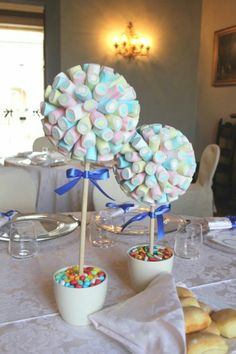 Some ideas and ideas to entertain children during the wedding reception .- Qualche idea e spunto per intrattenere i bambini durante il ricevimento di nozze… Some ideas and ideas to entertain children during … - Unicorn Birthday Parties, Baby Birthday, Birthday Party Decorations, Baby Shower Parties, Baby Boy Shower, Babyshower Party, Sweet Trees, Candy Bouquet, Candy Table