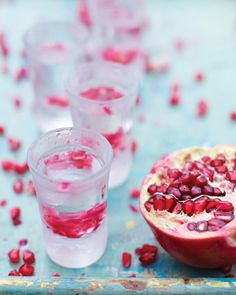 OK so I haven't had hard liquor in a while so I haven't tried this, but the idea is brilliant and with pomegranate you can't go wrong.