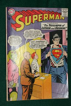 Superman 173 (1964) DC Comics Silver Age Rare Classic #Ebay #Superman #ActionComics #Action #Comic #Adventures #AdventuresOfSuperman #Man #Steel #ManOfSteel #Superboy #Metropolis #Krypton #Kryptonite #DC #Silver #Age #SilverAge #Rare #Classic