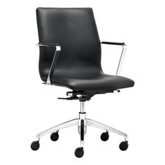 Zuo Modern Herald Low Back Office Chair Black - 206150