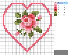 Mini Cross Stitch, Cross Stitch Heart, Cross Stitch Cards, Cross Stitch Fabric, Simple Cross Stitch, Cross Stitch Flowers, Cross Stitching, Cross Stitch Embroidery, Cross Stitch Designs