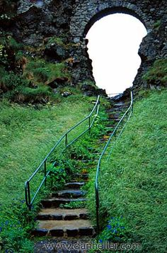 Escaleras al castillo de Dunluce, Irlanda
