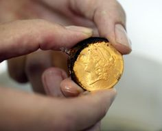 Gold Coin Recovered from the Wreck of the SS Republic