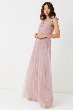 Buy Maya Tulle Maxi Dress from the Next UK online shop Latest Fashion For Women, Mens Fashion, Pink Maxi, Tadashi Shoji, Tulle Fabric, Bridesmaid Dresses, Wedding Dresses, Adrianna Papell, Uk Online