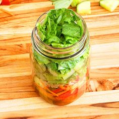 Simple Paleo Salad-in-a-Jar with Mustard Vinaigrette Recipe on Yummly