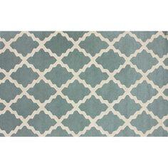 nuLOOM Marbella Marrakech Trellis Wool Rug, Blue