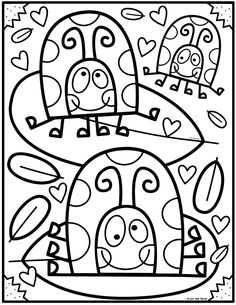 Coloring Club Library — From the Pond Cute Coloring Pages, Free Printable Coloring Pages, Coloring Pages For Kids, Coloring Sheets, Adult Coloring, Coloring Books, Kindergarten Coloring Pages, Halloween Drawings, Color Club