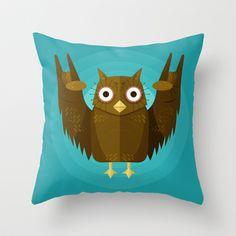 Vector Owl Throw Pillow by Lucia Bellunato - $20.00