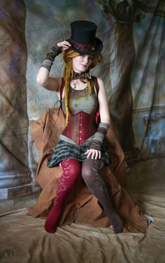 sleepnowpartylater: I want to dress up like this for halloween :) Steampunk beauty of the day!
