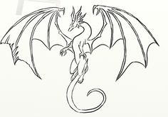 Easy dragon best ideas about easy dragon drawings on easy dragon pictures step by step . easy dragon image titled draw a dragon step Dragon Line Drawing, Easy Dragon Drawings, Dragon Sketch, 3d Drawings, Drawing Sketches, Simple Dragon Drawing, Fantasy Drawings, Pencil Drawings, Fly Drawing