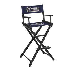 Black NFL St Louis Rams Football Field Design Portable Folding Table//Seats