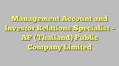 Accounting Manager  Corporate Golf Thailand Co Ltd
