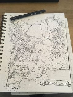 The Crown Lands - Pen & Paper [D&D] : worldbuilding Fantasy Map Making, Fantasy World Map, Fantasy Art, Art And Illustration, Map Sketch, Dungeon Maps, Map Design, Fantasy Inspiration, Fantasy Landscape