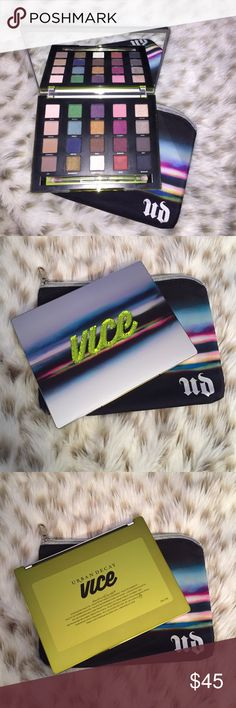 Urban Decay Vice 3 Eyeshadow Palette Limited edition! Brand new, never used Urban Decay Vice 3 Eyeshadow Palette                           20 limited edition and exclusive shades.              Double-ended applicator brush Urban Decay Makeup Eyeshadow