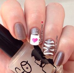 Coffee cup nail design