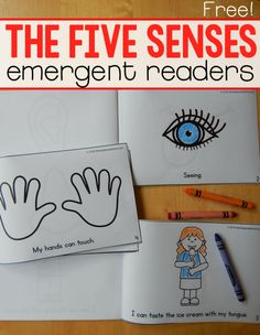 If you're teaching the five senses to preschool or kindergarten, you need these three FREE five senses emergent readers!