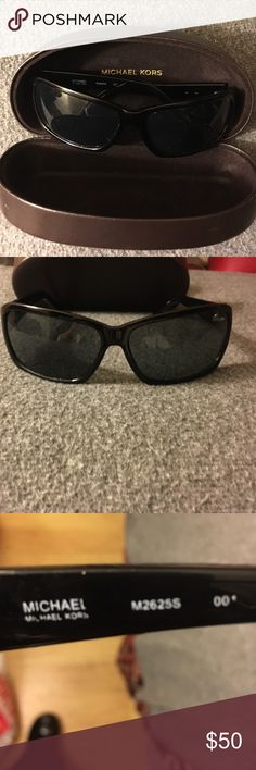 Michael Kors sunglasses with case I have these black MK sunglasses! I've worn them once. I didn't see any scratches. The arms could be tightened. They just sit in my drawer! I am an ex-smoker and I have two beautiful kitties! Michael Kors Accessories Sunglasses