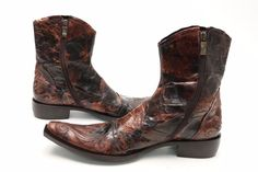Mens JO CHOST Brown/Distressed Style Leather Cowboy Boots Sz. 43 | eBay